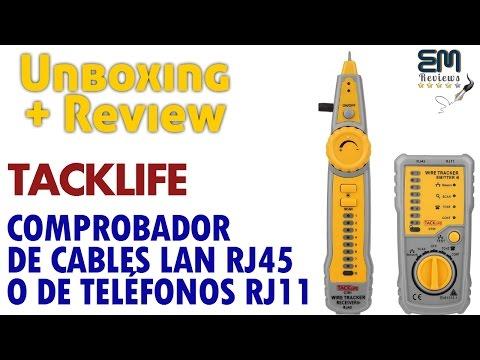 TACKLIFE CT01 Localizador / Comprobador de Cables LAN RJ45 y Teléfono RJ11 | UnBoxing - Review