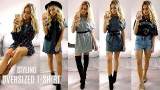 How To Style Oversized T-Shirts! / Boyfriend T-Shirts Lookbook Outfit Ideas