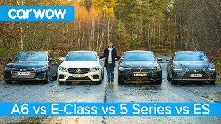 Audi A6 vs BMW 5 Series vs Mercedes E-Class vs Lexus ES - which is best?