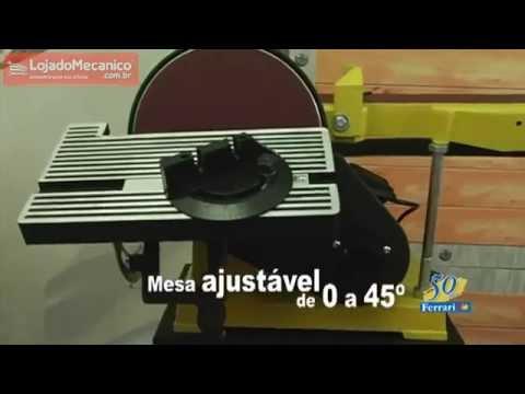 Lixadeira Combinada Profissional 110/220V - Video