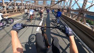 NYC RIDEOUT TAKES OVER BROOKLYN BRIDGE