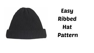 Basic Knit Fit Hat with Circular Needles For Men | Knitting Tutorial for Beginners