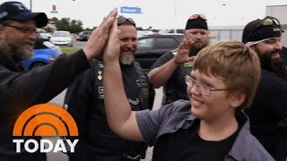 Bikers Escort Bullied 11-Year-Old Boy To His First Day Of 6th Grade | TODAY