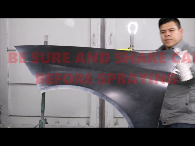 How To Spray a New Car Fender with Automotive Spray Paint at home YOURSELF!