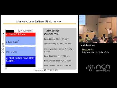 Introducción a la energía fotovoltaica (celdas solares)