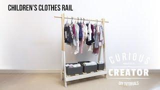 #45 Childs Clothes Rail - DIY Curious Creator