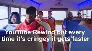 YouTube Rewind but every time it's CRINGEY it gets faster