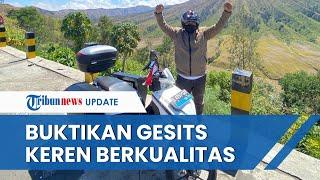 Touring dari Jakarta-Mandalika Pakai Gesits, Maman Buktikan Sepeda Motor Listrik Indonesia Tangguh