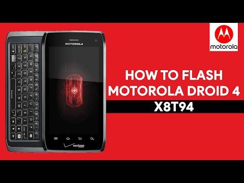 How To Flash Motorola Droid 4 X8T94 - [romshillzz]