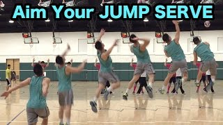 How to AIM your JUMP SERVE - How to SERVE a Volleyball Tutorial