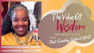 📚🎁💭📝Sunday School Lesson: The Gifts Of Wisdom - June 21, 2020