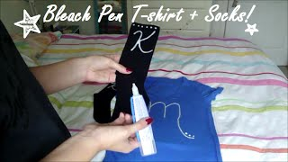 Quick & Easy Gift DIY - Bleach Pen Shirt+Socks