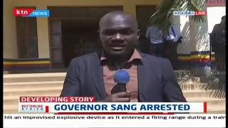 Tension in Nandi County after police ferried Governor Sang to Kisumu for processing