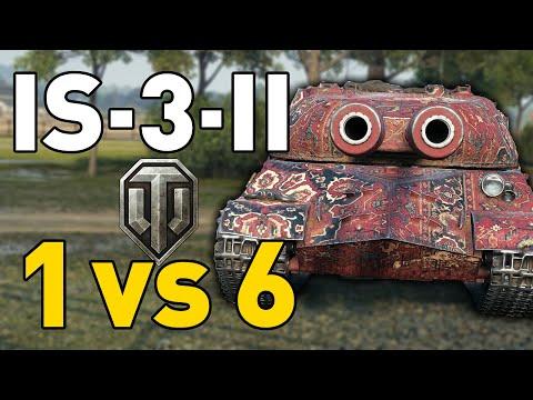 IS-3-II GOES 1 vs 6 in World of Tanks!