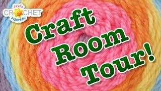Craft Room Tour & Yarn Collection!