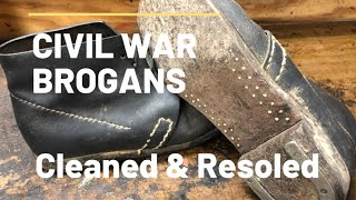 Civil War Brogans Restoration