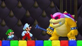 Newer Super Mario Bros Wii Co-Op Walkthrough - Part 1 - Yoshi's Island (2 Player)