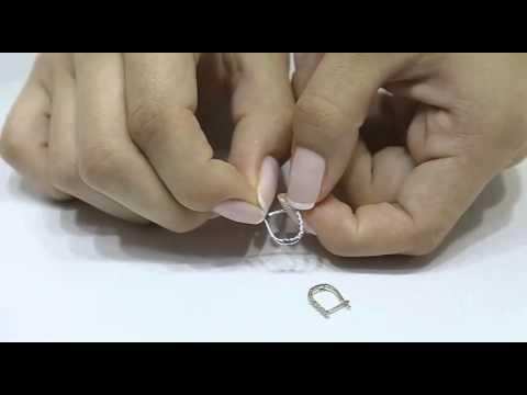 Diamant Ohrringe Creole 750 18 Karat Weißgold