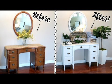 CHALK PAINTING FURNITURE TUTORIAL | FARMHOUSE STYLE Mp3