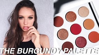 Kylie Jenner THE BURGUNDY PALETTE Tutorial Swatches & Review