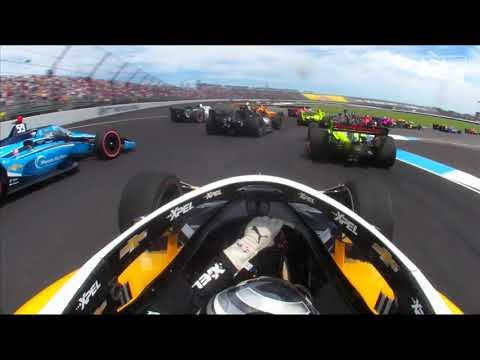 インディーカー 第12戦インディカー・インディアナポリス 車載から見るスタート直後の1周目動画