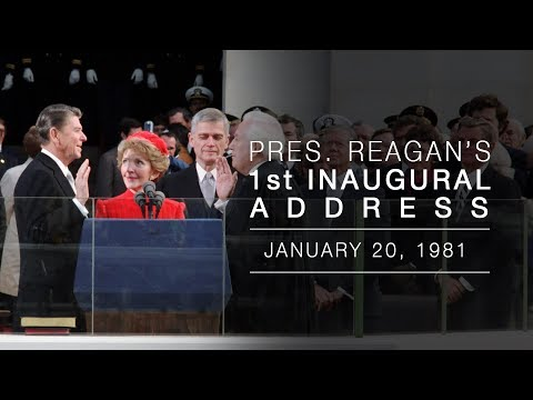 President Reagans Inaugural Address 1/20/81