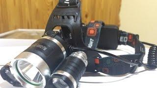 Налобный фонарь для рыбалки boruit rj-3001