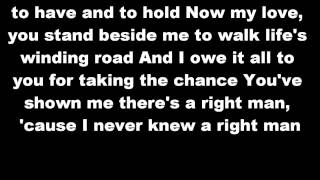 The Right Man Christina Aguilera Lyrics