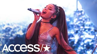 Ariana Grande Got Hit With A Lemon During Her Coachella Performance!