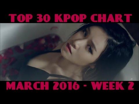 TOP 30 KPOP CHART - MARCH 2016 WEEK 2 (8 NEW SONGS)