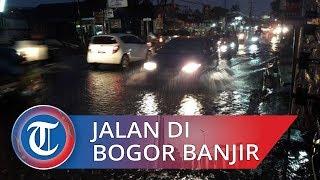 Drainase Tak Berfungsi Bikin Jalan Karadenan Bogor Banjir