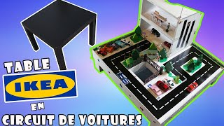 Transformer une table Ikea en circuit de voitures