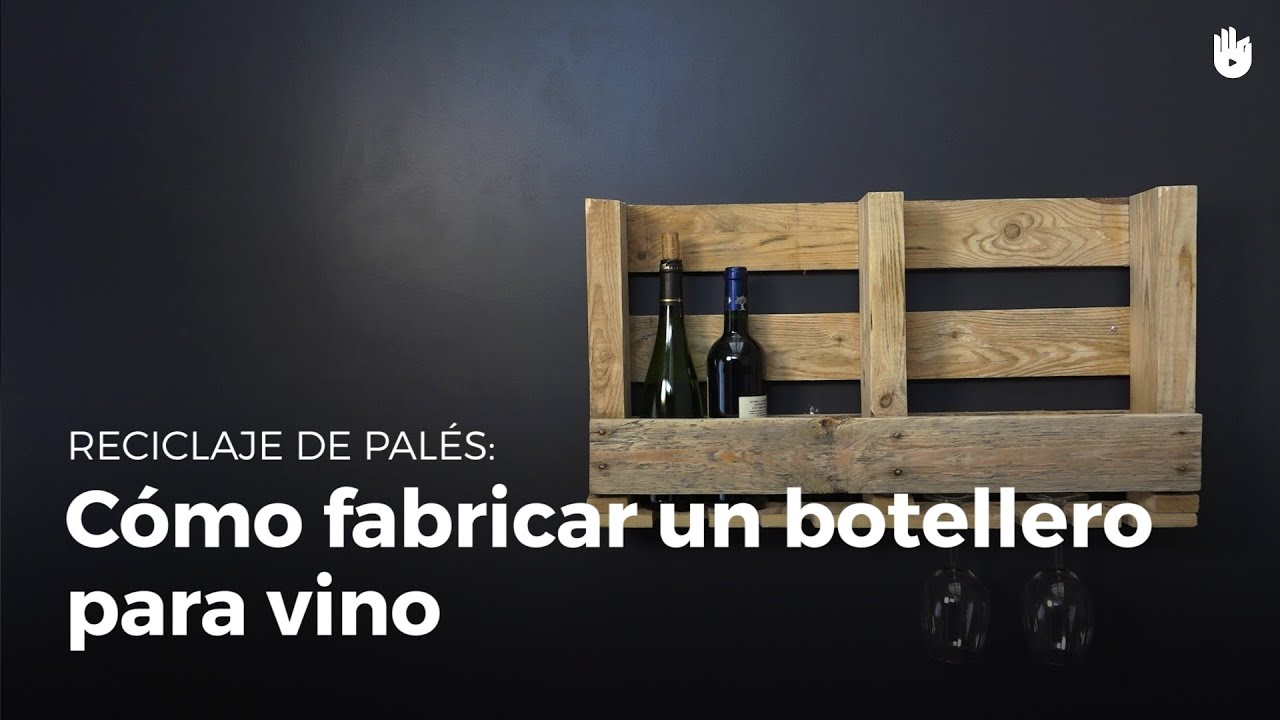 C mo fabricar un botellero para vino reciclaje de madera de pal s sikana - Botelleros de madera para vino ...