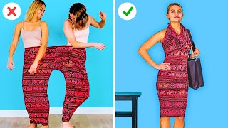GENIUS CLOTHES HACKS AND GIRLY TRICKS || Funny Crafts by 123 GO! GOLD