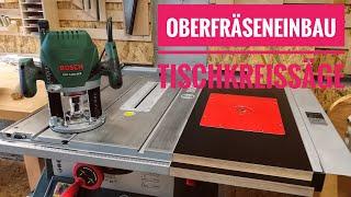 Bosch Oberfräse POF 1400 Einbau In Tischkreissäge PTS 10   Bosch Router Build In Table Saw