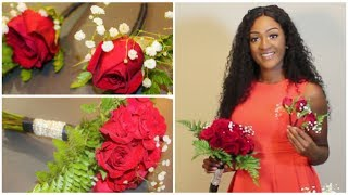 DIY: Bridesmaids Bouquet 💐 & Boutonnieres🌹 Using Real Flowers || Chanelle Novosey