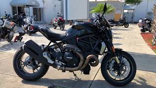 Pre-Owned 2016 Ducati Monster 1200 R Thrilling Black At Euro Cycles Of Daytona Florida