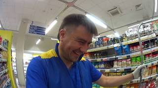 """Как я работал в гипермаркете """"ЛЕНТА"""" работником торгового зала!! Москва 2017 год!"""