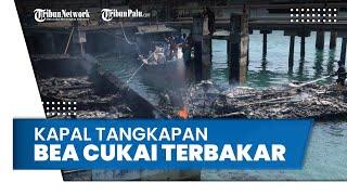 Detik-detik Kapal Tangkapan Bea Cukai Batam Hangus Terbakar, Diduga karena Puntung Rokok