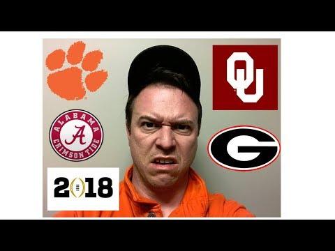 College Football Playoff 2018 - Clemson, Oklahoma, Georgia, & Alabama