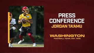 Press Conference: QB Jordan Ta'amu During Rookie Minicamp | Washington Football Team