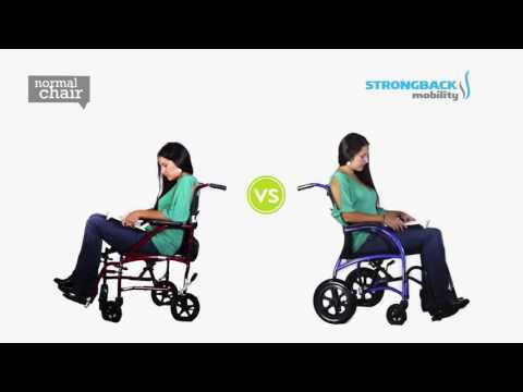 The StrongBack Wheelchair from TGA - lightweight with effective lumbar support YouTube video thumbnail