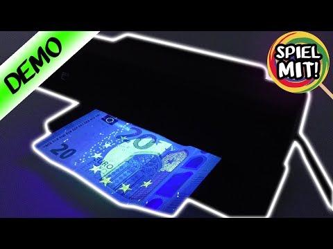 GELDSCHEIN PRÜFER - Ist die Banknote echt oder gefälscht? | Detektiv spielen mit UV Lampe