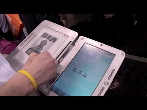 enTourage eDGe dualbook eBook Reader at CES 2010