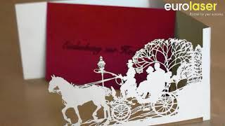 Laser Cutting Invitation Cards Of Paper - Laserschneiden Von Einladungskarten Aus Papier - Eurolaser