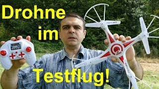 Drohne im Testflug! -- Revell Control Go! Video Drohne wird getestet. --