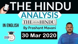 English 30 March 2020 - The Hindu Editorial News Paper Analysis [UPSC/SSC/IBPS] Current Affairs