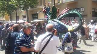 preview picture of video 'Festa Major Vilanova i la Geltrú 2012 - the Dragon from Geltrú'