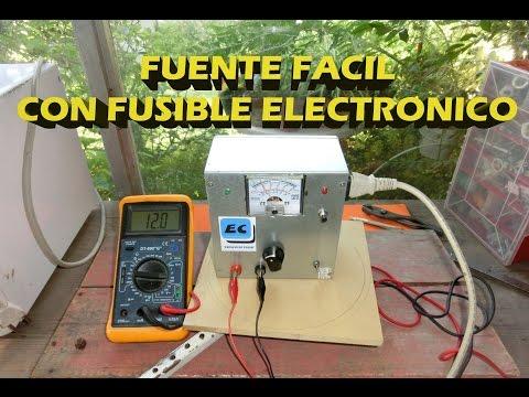 Fuente regulable muy facil con fusible electronico