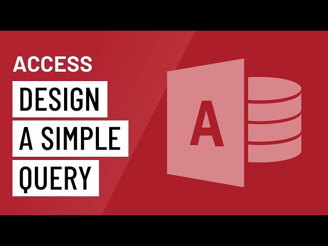 Access: Designing a Simple Query